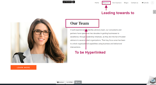 Our Team Hyperlink